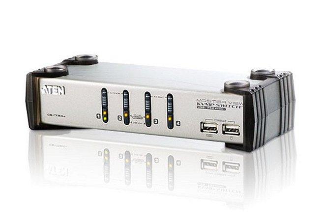 CS1734A Switch PS/2-USB VGA/Audio KVMP™ de 4 portas