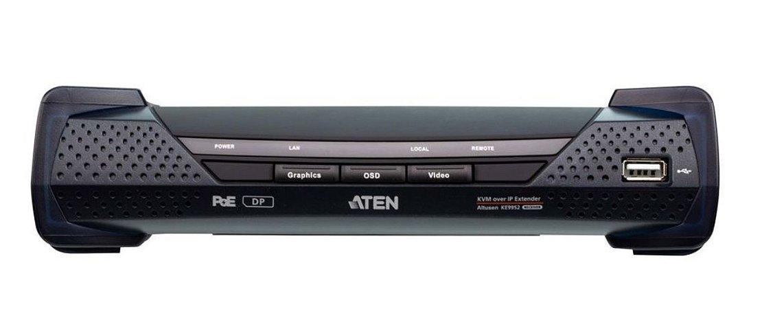 KE9952R Recetor 4K DisplayPort de ecrã individual KVM Sobre IP com PoE