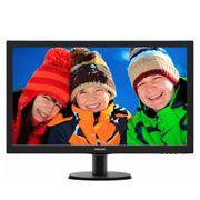 273V5LHAB  Philips Monitor (273V5LHAB) LED 27.0 Widescreen (1920x1080), com audio (2x 2W), VESA (VGA/DVI/HDMI)
