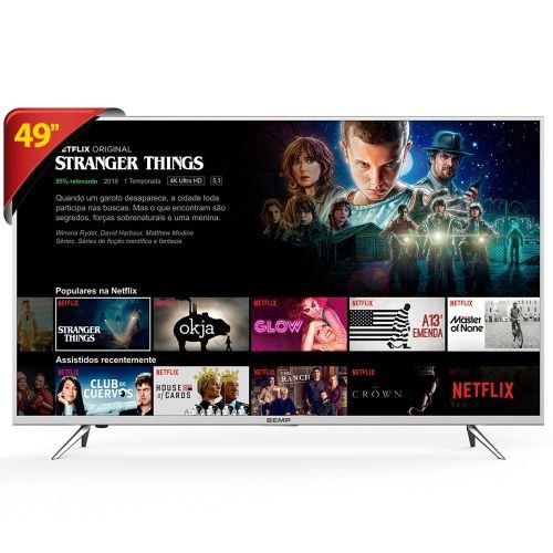 49K1US TV 49P SEMP LED 4K SMART WIFI FULL HD USB