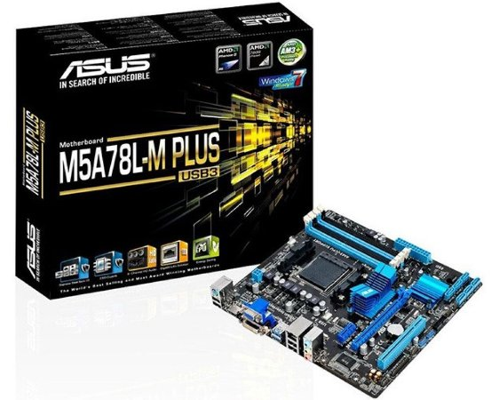 90MB0RB0-M0EAY0 Placa-Mãe Asus (M5A78L-M Plus/USB) AMD AM3+ DDR3 Micro ATX