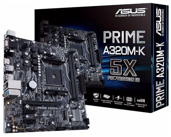 90MB0TV0-M0EAY0 Placa-Mãe Asus (PRIME A320M-K) AMD AM4 DDR4 Micro ATX
