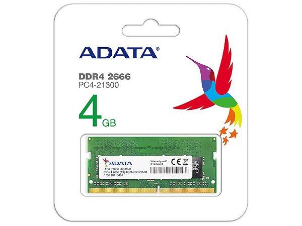AD4S2666J4G19-S MEMORIA NOTEBOOK DDR4 ADATA