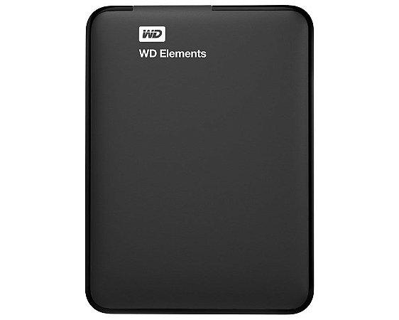 WDBU6Y0040BBK-WESN - HD Externo Western Digital Elements Portable 4TB USB 3.0 Preto