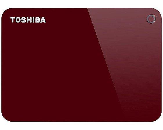 HDTC910XR3AA - HD Externo Toshiba 1TB Canvio Advance V9 5400rpm USB 3 Red