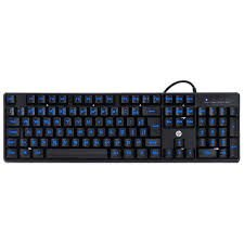30618 Teclado USB Gamer K300 Black com LED Azul Hp