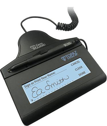 Coletor de Assinatura Topaz Systems Medical T-LBK462 WOWPad Modelo Series SigGem LCD 1x5