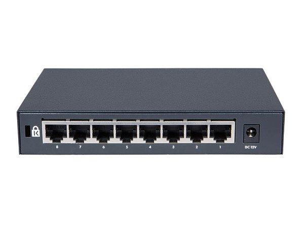 Switch 1420 Não Gerenciável 8G com 8 portas 10/100/1000 Mbps RJ45 - HPE / JH329A