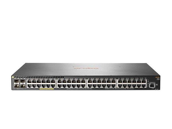 Switch 2540 Gerenciável 48G 4SFP+ com 48 portas PoE+ 10/100/1000Mbps RJ45 + 4 portas SFP+ (1/10G) (Potencia PoE: 370W) - Aruba / JL357A