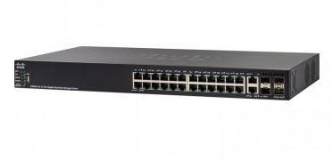 Switch Cisco SG550X-24P 24 portas Gigabit PoE Stackable / SG550X-24P-K9-NA