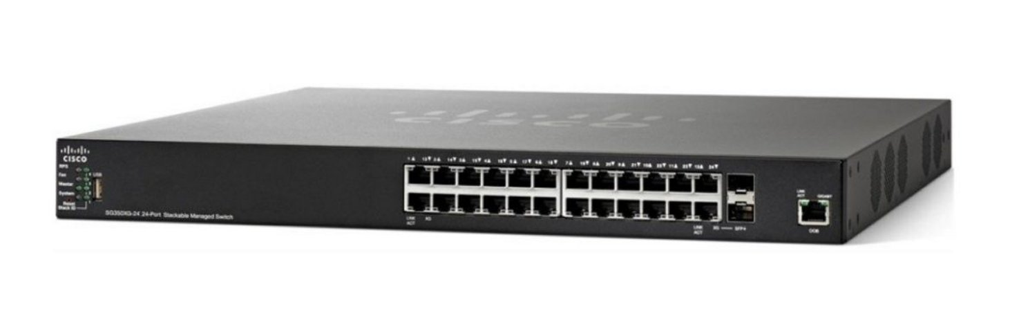 Switch Cisco SG350X-24P 24 portas Gigabit POE Stackable / SG350X-24P-K9-BR