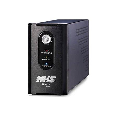 91.B0.015100 Nobreak NHS Premium 1500VA E.Bivolt S.120V ou Conf 220V Bat Estacionária 1x58Ah/ 12V USB 8 tomadas