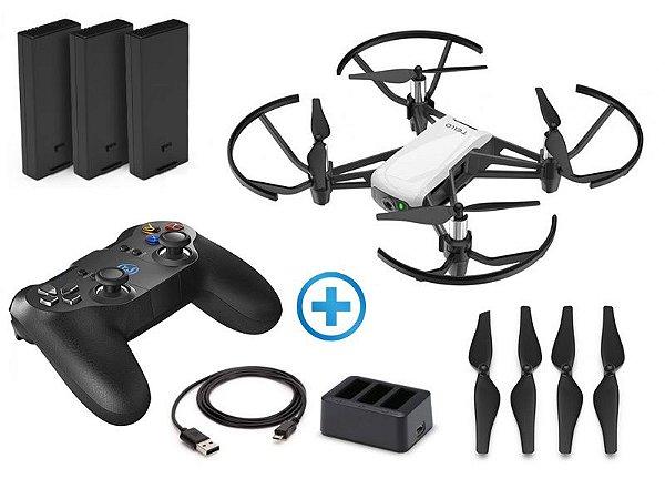 Drone DJI CP.TL.00000017.01 TELLO Boost Combo Arctic White + Radio Controle Gamesir T1D Bluetooth (51484-9)