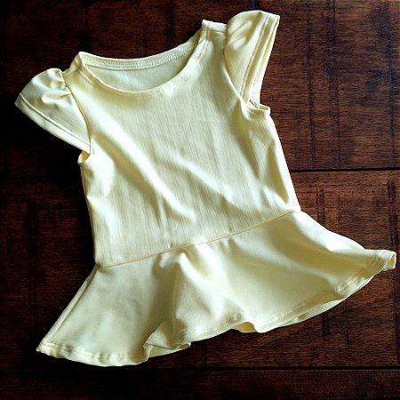 Blusa Peplum Amarela - Candy Colors