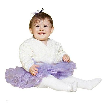 Meia Calça Lisa Algodão Grossinha de 1 a 12 anos
