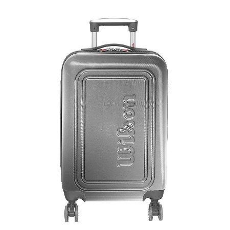 Mala de Viagem Pequena de Bordo Wilson em ABS com Rodas 360º Graus - Prata