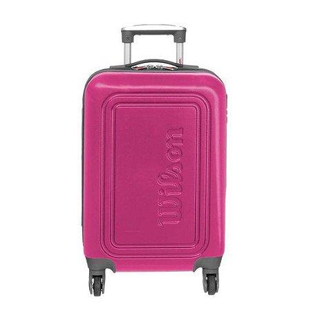 Mala de Viagem Pequena de Bordo Wilson em ABS com Rodas 360º Graus - Rosa