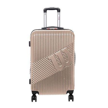 Mala de Viagem Wilson Pequena de Bordo em ABS Cor Champagne 651705M2