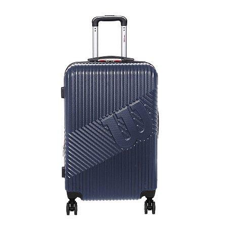 Mala de Viagem Wilson Pequena de Bordo em ABS Cor Azul