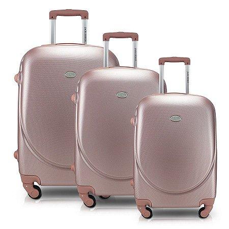 Conjunto Malas Viagem 3 Peças Rosê Jacki Design AHZ19861