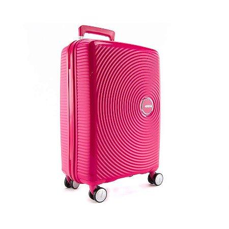 Mala de Viagem Pequena  American Tourister Curio 40L Rosa