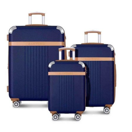 Conjunto Malas de Viagem Santino Athena BGV182J02 Cor Azul
