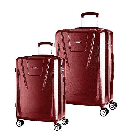 Conjunto de Malas de Viagem 2Pcs  Samsonite Derby - Vermelho