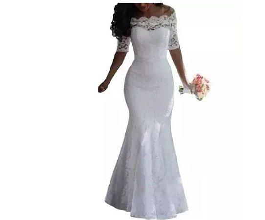 b164cbf22 vestido de noiva - sereia casamento civil religioso renda - Bella Donna
