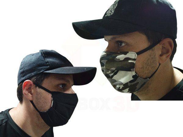 Mascara De Proteção Respiratória Lavável Dupla Face Preto