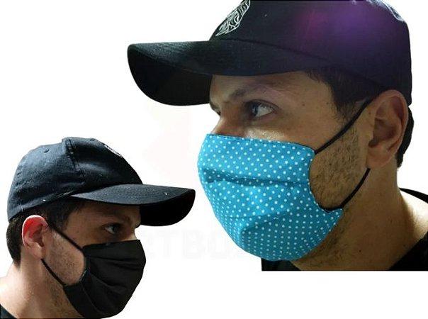 Mascara De Proteção Corona vírus Respiratória Lavável Dupla Face Kit 3
