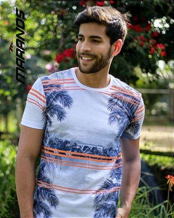 Camiseta masculina manga curta original estampada Marands