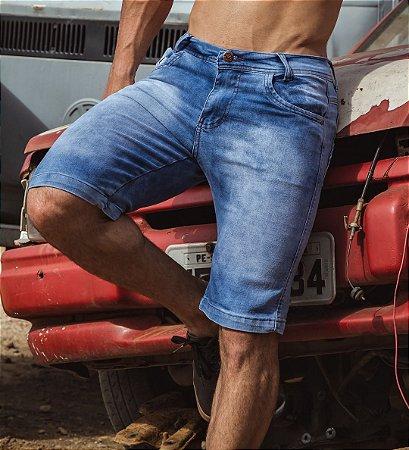 Bermuda Masculina Jeans Layca Slim Fit Original