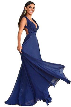 Vestido Azul Marinho Longo de Festa Madrinha casamento infinity