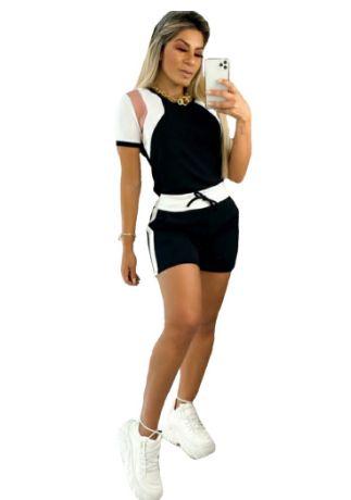 conjunto Feminino Short Blusa manguinha lançamento