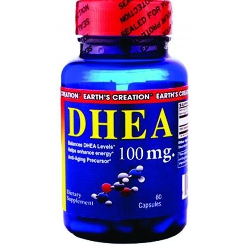 DHEA 100 mg - Earth´s Creation - 60 Cápsulas