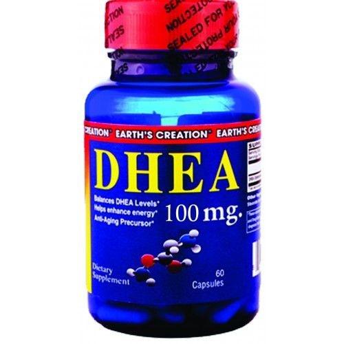 DHEA 100 mg - Earth´s Creation - 60 Cápsulas