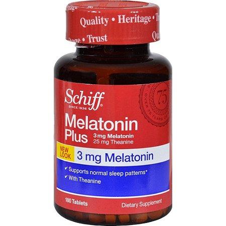 Melatonina Schiff Plus - 3 mg - 180 comprimidos