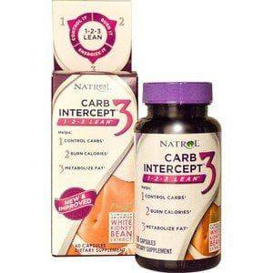 Carb Intercept 3 (Bloqueador de Carboidratos)  - Natrol - 60 Cápsulas