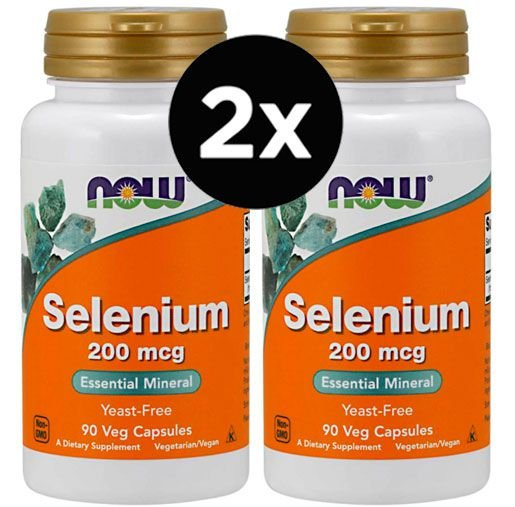 2X Selênio Now Foods - 200 mcg - 90 Vcaps