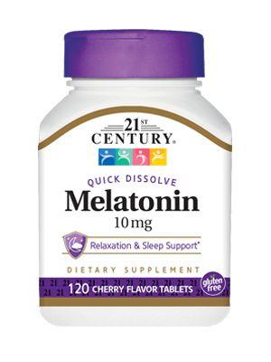 Melatonina 10mg Century 120 Comprimidos de Dissolução Rápida - Sabor Cereja
