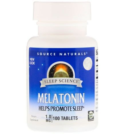 Melatonina 1 mg, Source Naturals,100 Comprimidos