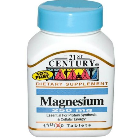 Magnésio 250 mg, 21st Century, 110 Tabletes