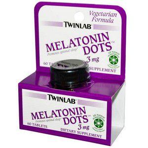 Melatonina 3 mg, Dissolução Rápida, Twinlab, 60 comprimidos