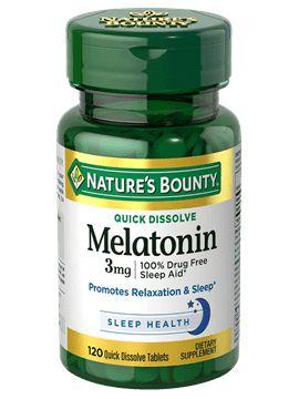 Melatonina 3mg Rápida Dissolução, Nature's Bounty - 120 comprimidos