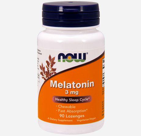 Melatonina 3 mg - Now Foods - Rápida Absorção - 90 comprimidos mastigáveis