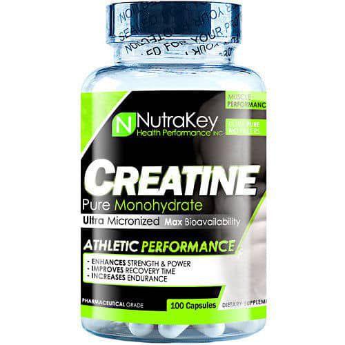 Creatina Nutrakey Monohydratada - 100 Cápsulas