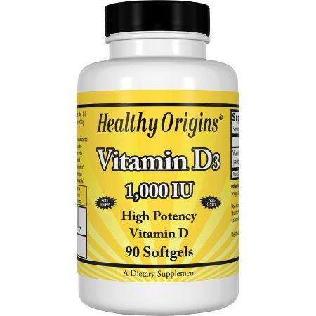 Vitamina D3 - Healthy Origin's - 1.000IU - 90 Cápsulas