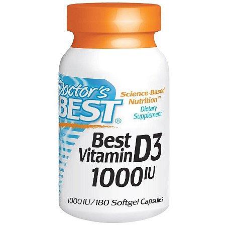 Vitamina D3 - Doctor's Best - 1000 IU - 180 Cápsulas