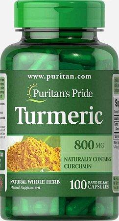 Turmeric 800mg, 100 capsulas (Rápida Absorção) Puritans Pride