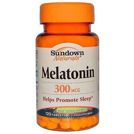 Melatonina 300mcg Sundown Naturals, 120 comprimidos ( vegetariana )